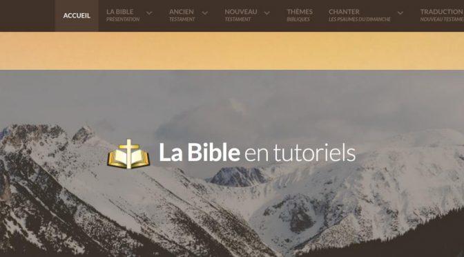 La Bible en tutoriels